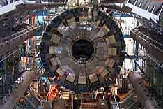 An underground representation of the Large Hadron Collider, which stretches for 27 kilometres